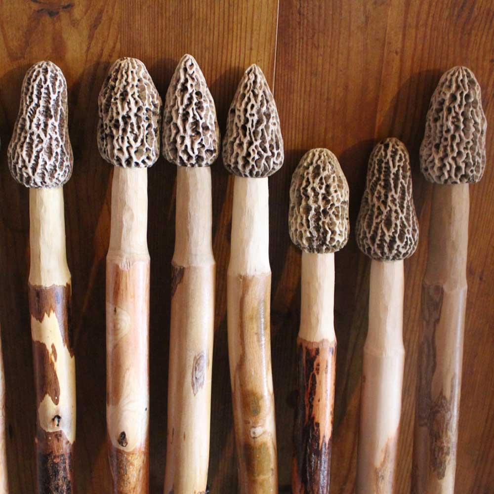 Morel Mushroom Hiking Sticks