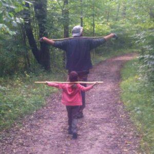 Morel Mushroom Hunting with kids